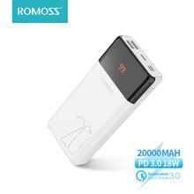 ROMOSS – batterie externe lt20 plus, 20000 mAh, Charge rapide, QC PD 3.0, 20000 mAh, pour Xiaomi, iPhone