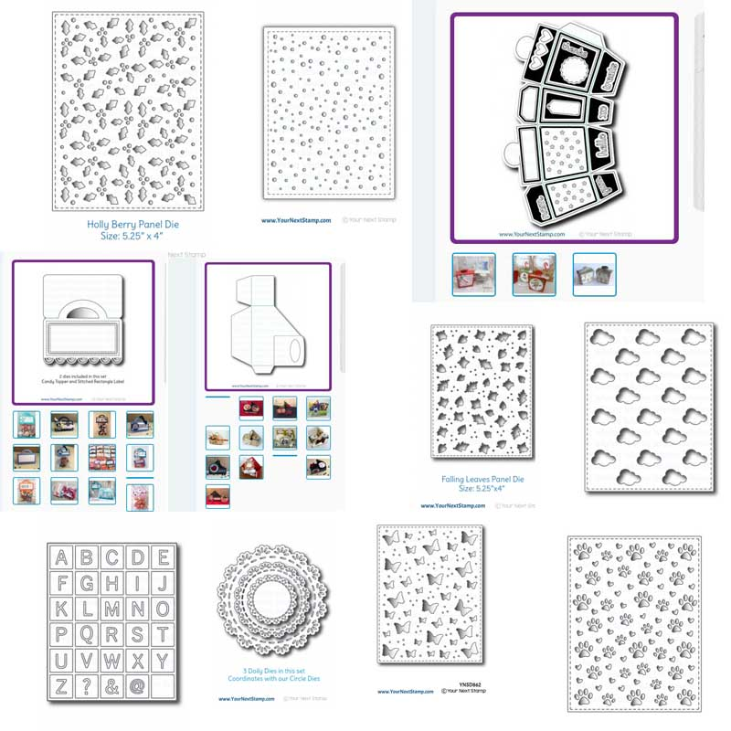 Metal Cutting Dies Scrapbooking Background Craft Card Making Embossing Rectangular Pattern