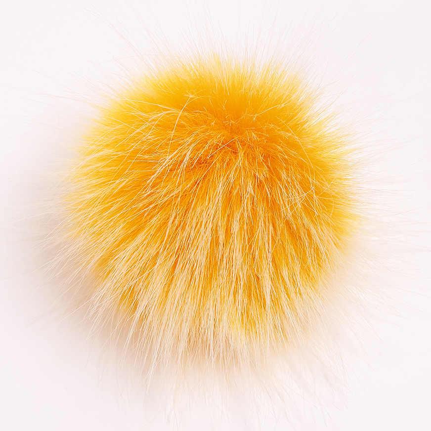 8/10 Cm Wasbeer Bont Pompom Faux Bont Pompon Met Gesp Voor Vrouwen Hoed Pom Poms Bont Ballen Voor gebreide Caps Craft Accessoires
