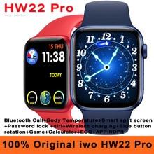 Оригинальная игра HW22 Pro Smart Watch Для мужчин 44 мм Беспроводной зарядки вызовов через Bluetooth тела Температура Siri монитор ЭКГ IP67 Смарт-часы