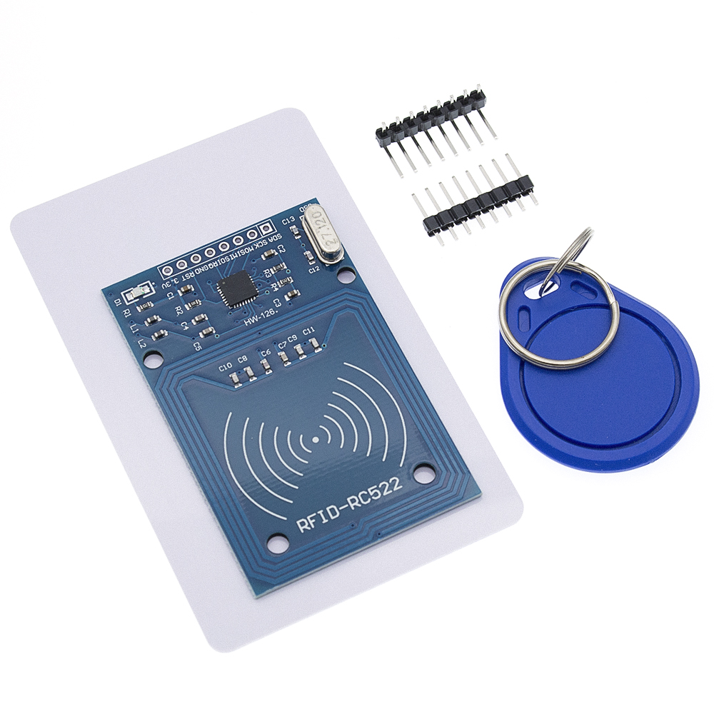 Image 3 - 50pcs TENSTAR ROBOT RFID module RC522 Kits S50 13.56 Mhz 6cm With Tags SPI Write & Read-in Integrated Circuits from Electronic Components & Supplies