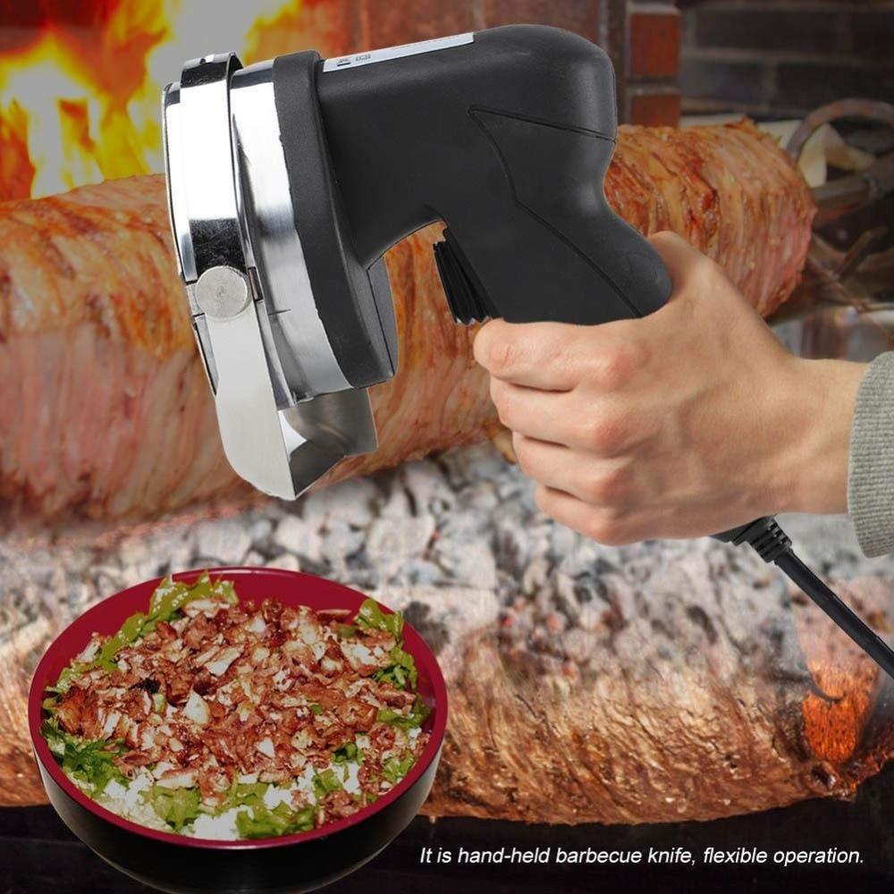faca giroscópios slicer kebab faca 2 lâminas