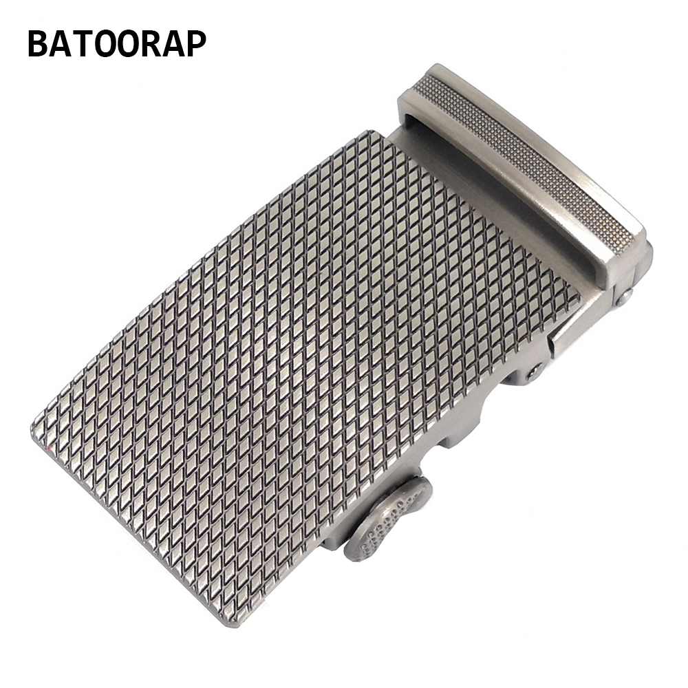 Men's Belt Automatic Buckles Fashion Brand Alloy Free Belt Buckle 40mm Gray Durable Fits In 3.5 CM Ratchet Belts Casual Styles