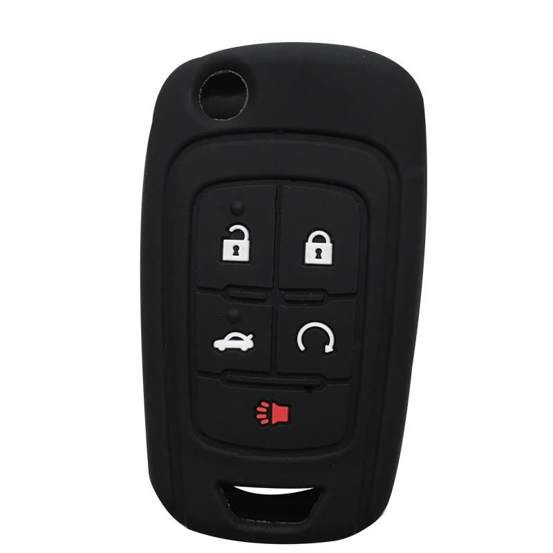 Silicone Key Cover For Chevrolet Equinox Volt Cruze Impala Camaro Garna Yakista AVEO Impala GMC Terrain Flip Key Fob Case