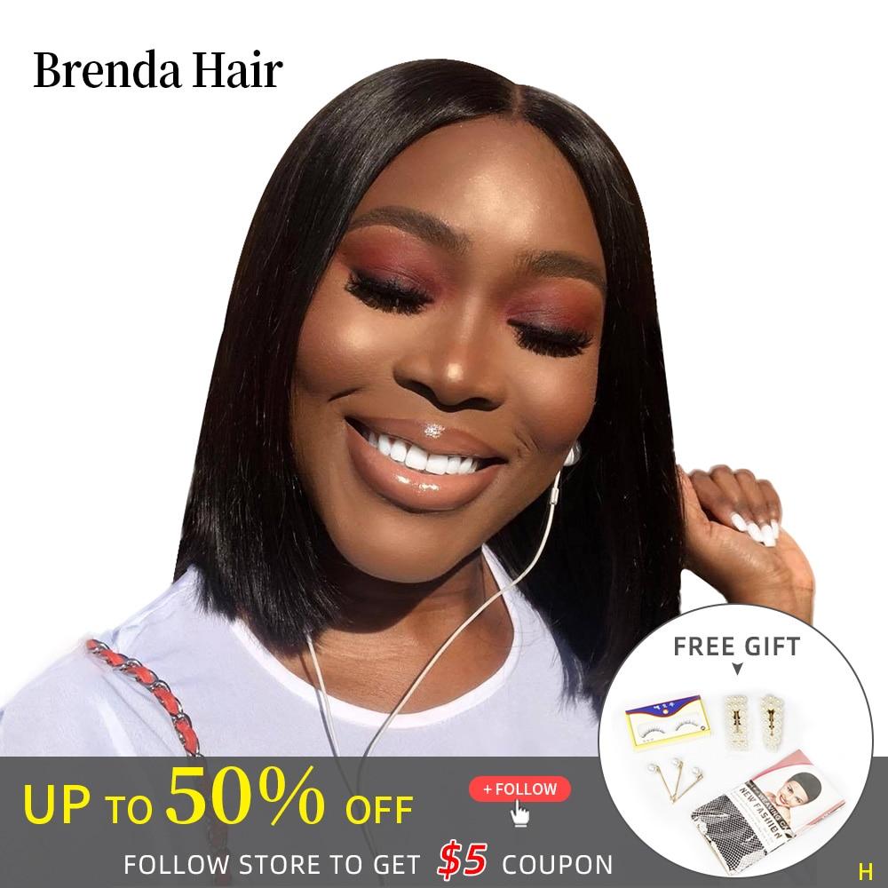 Straight Short Bob Human Hair Wigs 13x4/13x6 Lace Frontal Wig Straight Bob Lace Front Wigs For Black Woman Brenda Hair