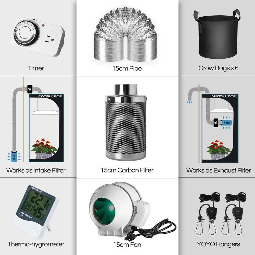 מאדים הידרו TSW 2000W לגדול ערכות LED לגדול אור ספקטרום מלא LED מנורת וועג פרח צמח + מקורה לגדול אוהל ערכת מסרק רב-גודל