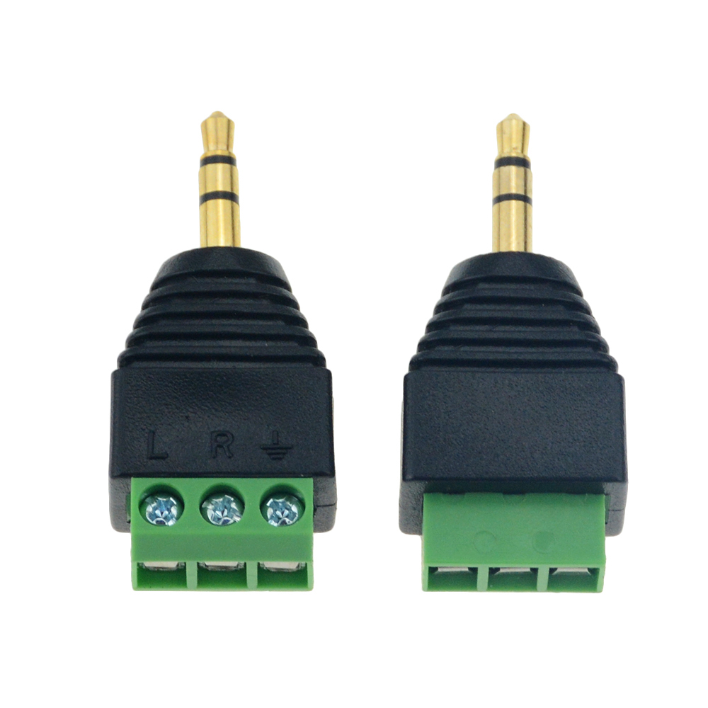 1pc 3.5mm Jack Headphone Plug Four-node Male Stereo Solderless Connector Audio Head To Terminal Plug