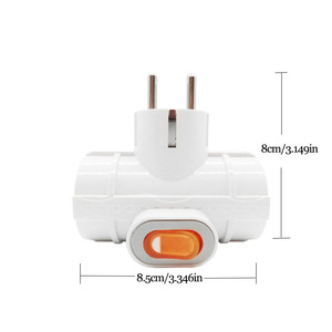 Image 3 - 4.8MM EU standard Power Adapter Socket DIN Plug 1 to 3 Socket with Switch 16A 250V Travel Wall Charger Converter Socket