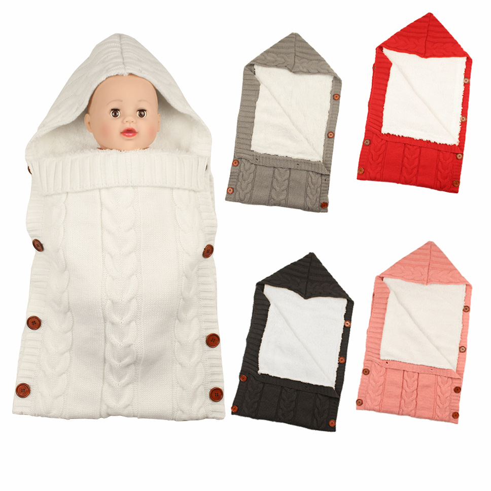 2019 Baby Sleeping Bag Envelope Extract Winter Newborns Baby Swaddle Newborn Cocoon Baby Sleeping Stroller Blanket Sleepsack