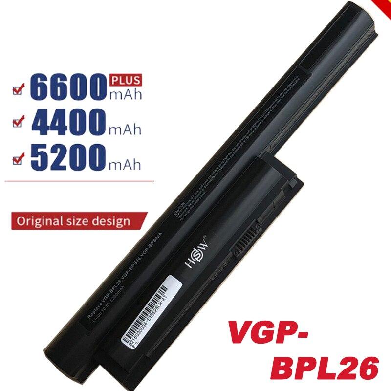 HSW 11.1v Battery For Sony Vaio VGP-BPS26 SVE141 SVE14A SVE15 SVE17 VPC-CA SZ BPL26 BPS26 VGP-BPS26A VPCEH16EC Vgp Fast Shipping