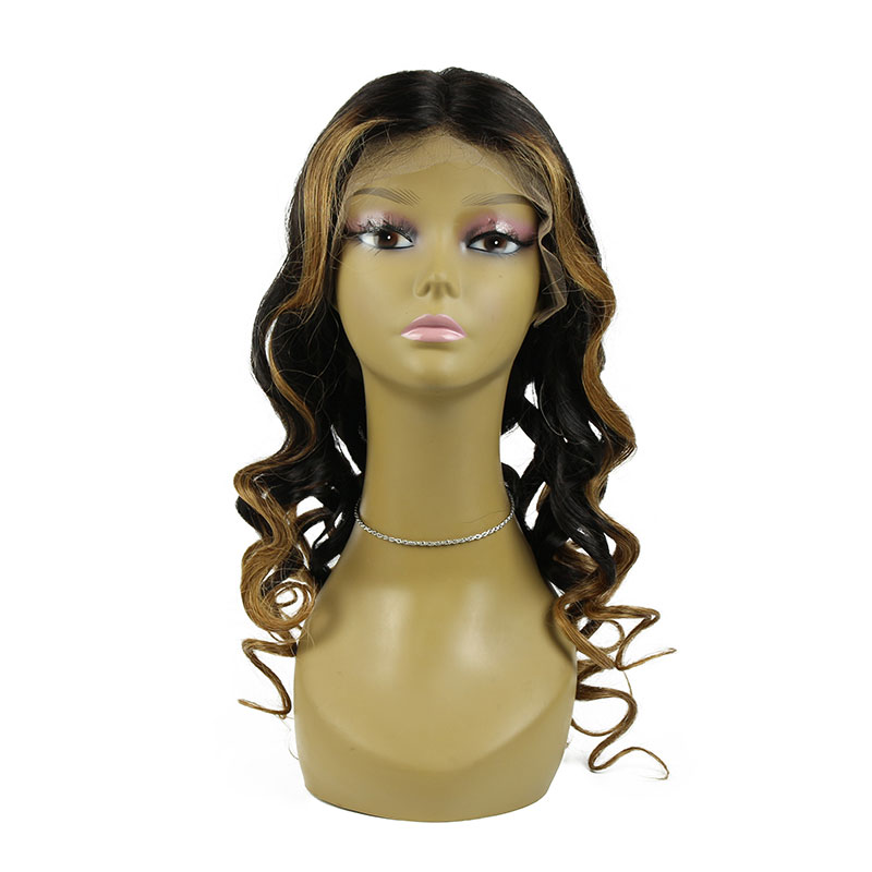 130% Density Human Hair Wigs With Baby Hair Curly Lace Front Wig