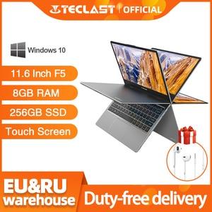 Teclast F5 Laptop Notebook 8GB RAM 256GB SSD Touch Screen PC Intel Gemini Lake N4100 1920*1080 Quick Charge 360 Rotating