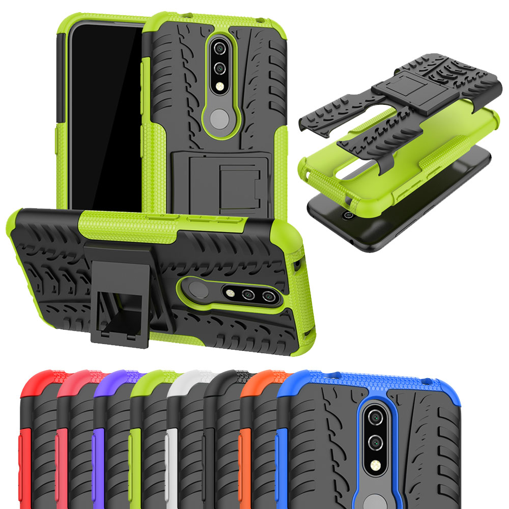 For <font><b>Nokia</b></font> 6.2 <font><b>8.1</b></font> 7.1 6.1 5.1 X 7 6 5 2018 Plus <font><b>Case</b></font> Hybrid Armor Hard PC Plastic + Soft TPU <font><b>Silicone</b></font> Stand For <font><b>Nokia</b></font> X5 Cover image