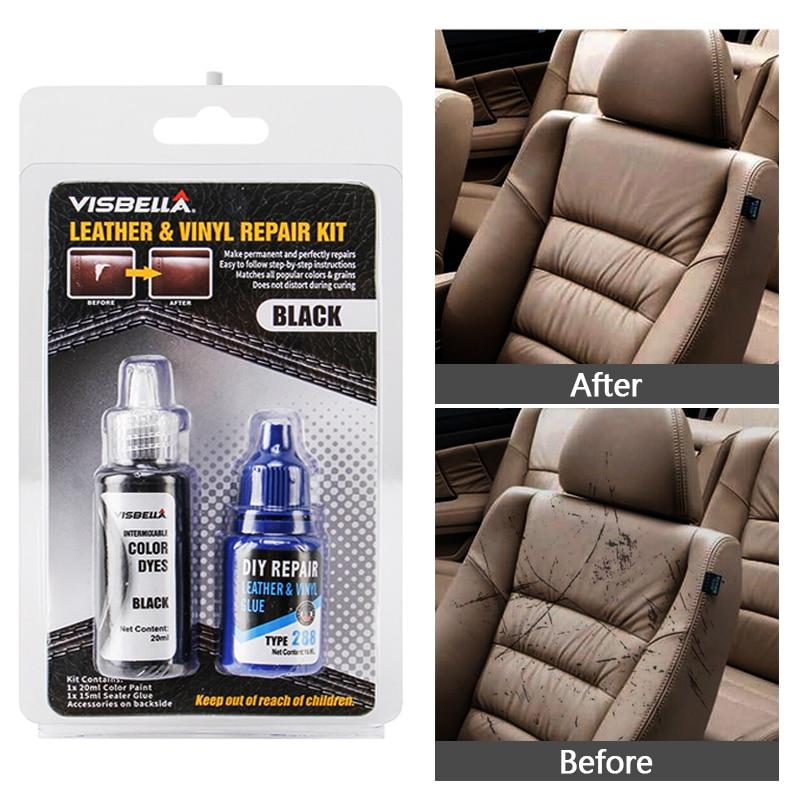 Liquid Leather Repair Gel Skin Refurbish Tool Holes Scratch Cracks Restoration Vinyl Restorer Car Seats Sofa Jacket Purse Shoes