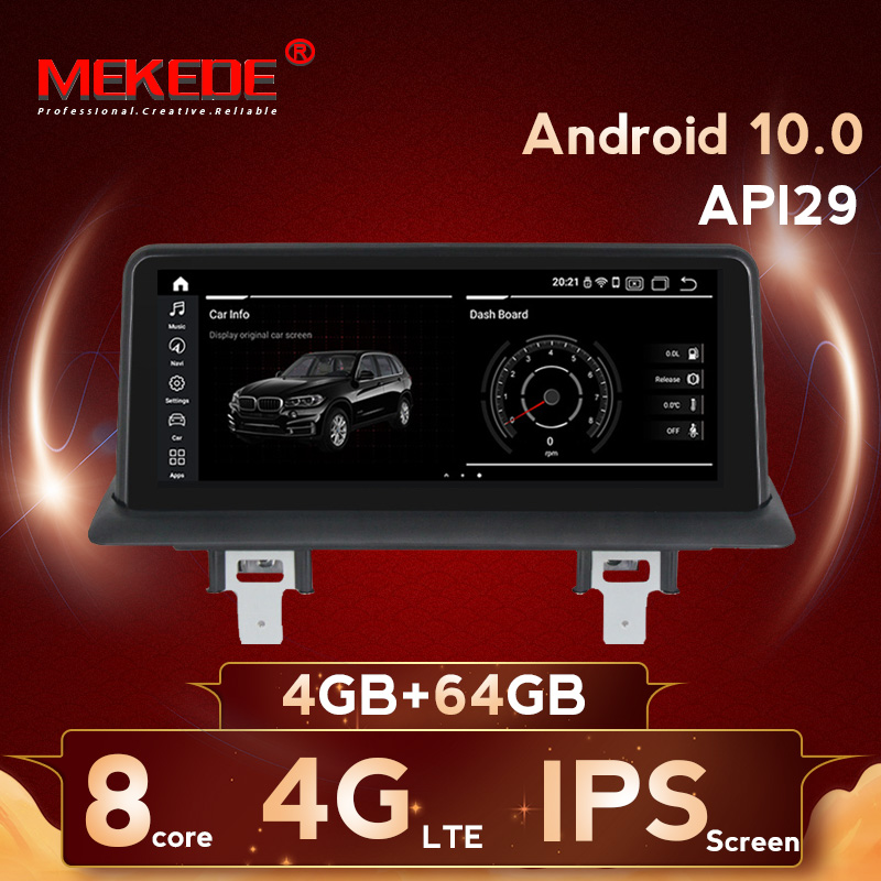MEKEDE 10.25'' 8 core <font><b>Android</b></font> 10.0 4G LTE Car DVD player multimedia player for <font><b>BMW</b></font> 1 Series E81 E82 <font><b>E87</b></font> E88 116i 118i 120i 130i image