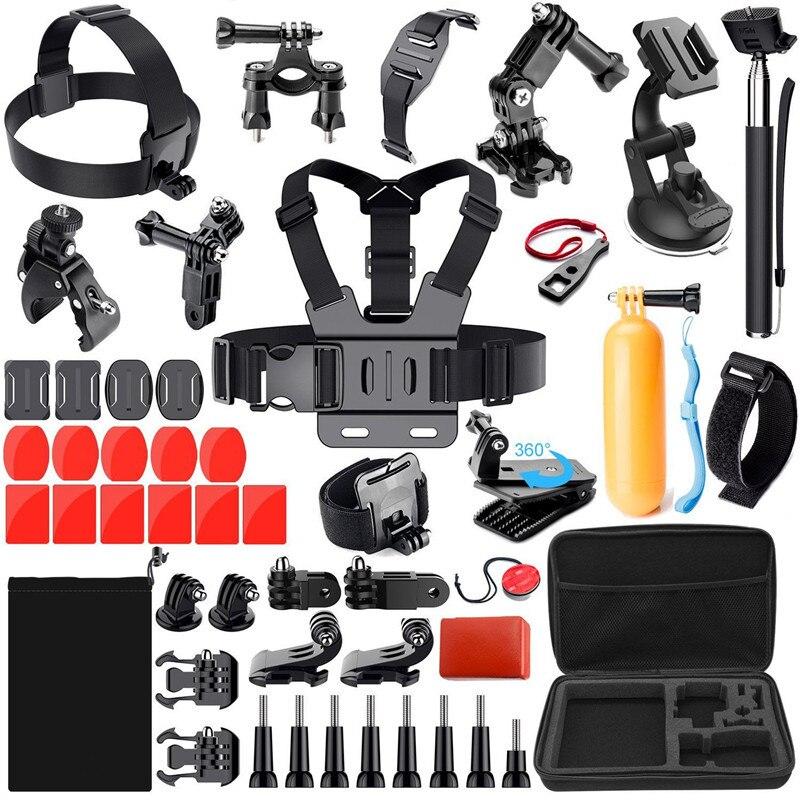 Commerce extérieur offres spéciales combinaison 45 en 1 Set Hero 5/7 caméra d'action accessoires de photographie GoPro Storgage sac sangle de poitrine