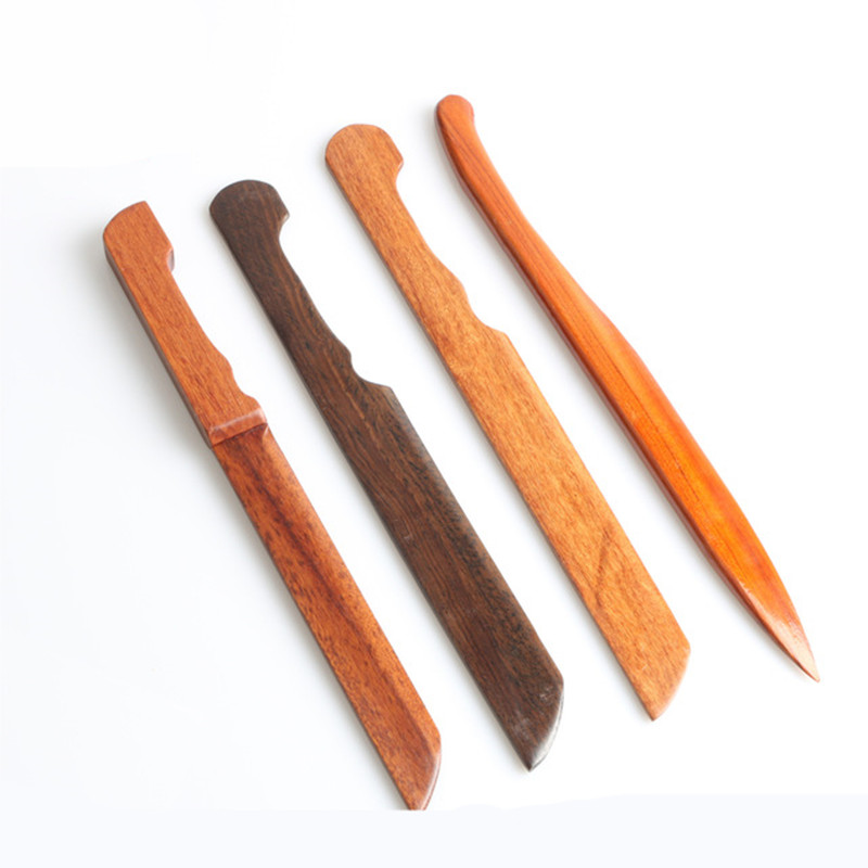 Rosewood Ebony Wood Letter Opener Mahogany Wood Paper Cutting Leaf Knife Craft Paper Cutter Utility Tools Office Stationery