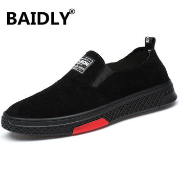Brand Men Loafers Men's Casual Shoes Suede Leather Moccasins Breathable Slip on Boat Shoes Chaussures Hommes