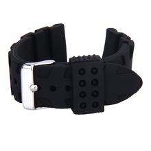 Waterproof Diver Sport Silicone Rubber Buckle Watch BAND Strap Replacement 22mm