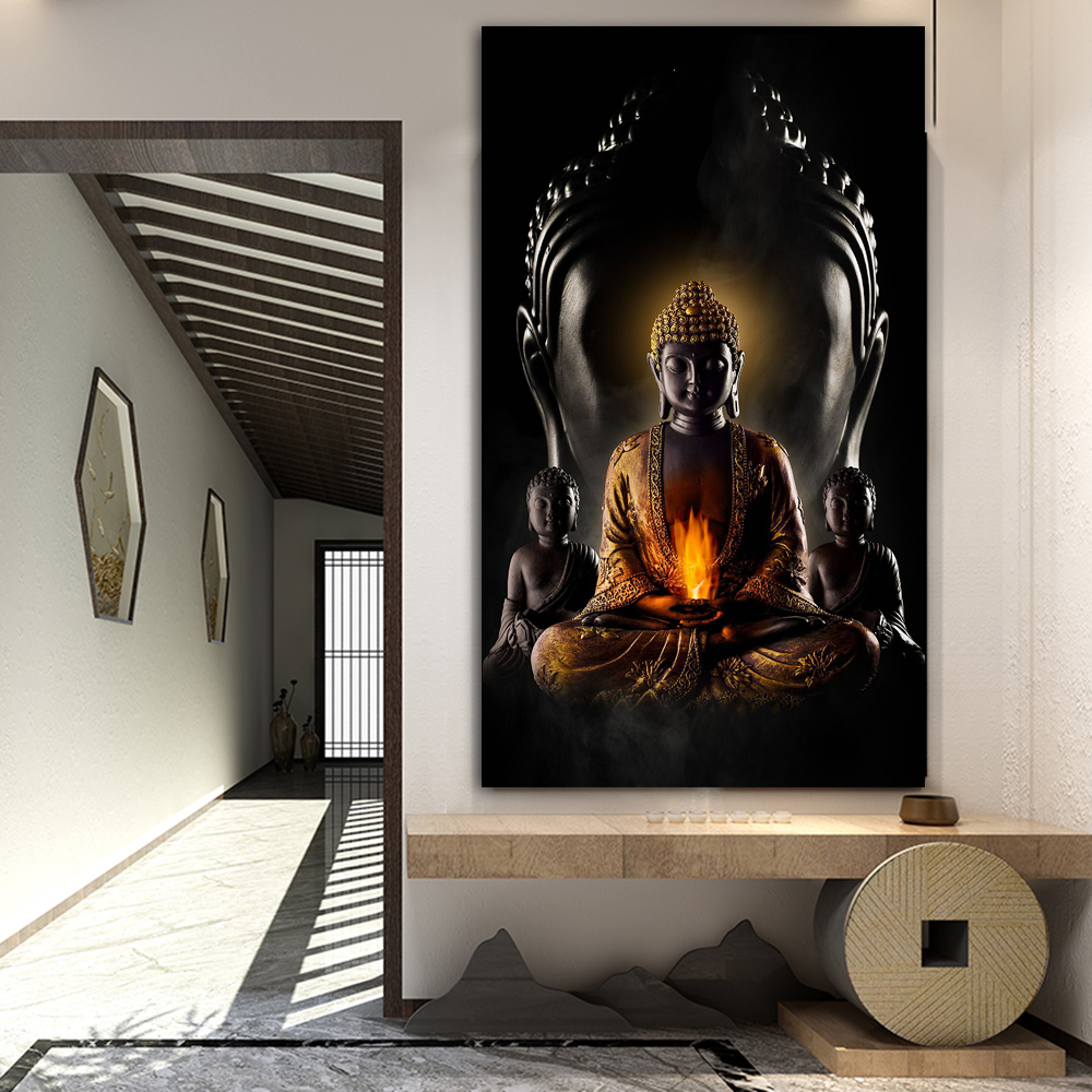 US $10.108 105% OFFPoster God Buddha Wall Art Canvas Prints Modern Buddha  Canvas Art Paintings Wall Pictures Buddhism Posters Wall DecorPainting &