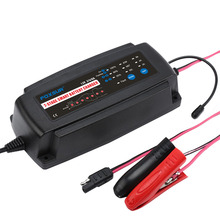 12V 2A/4A/8A 3 in 1 7-stage Smart Car Battery Charger Maintainer &Desulfator for AGM GEL WET Lead-Acid Batteries 6-160AH