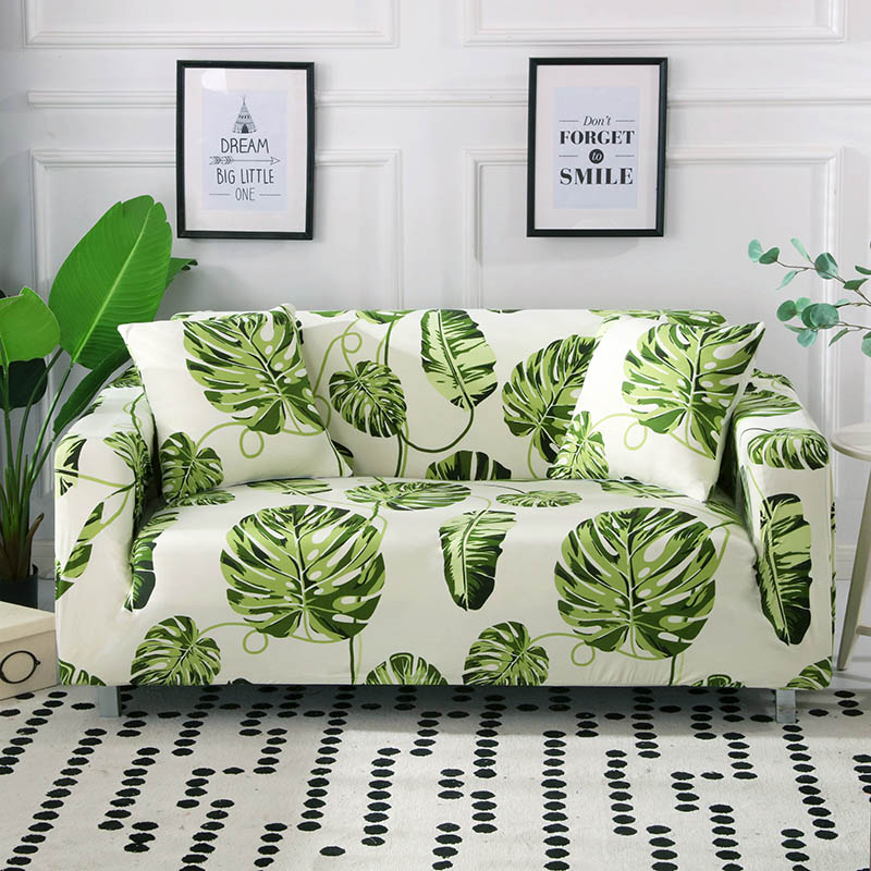Floral Printed Polyester Couch Cover with High Elasticity and Non Slip Property Suitable for Universal Sofa