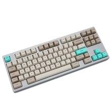 SA profilo Dye Sub Keycap Set PBT plastica retro beige per tastiera meccanica beige grigio ciano gh60 xd64 xd84 xd96 87 104