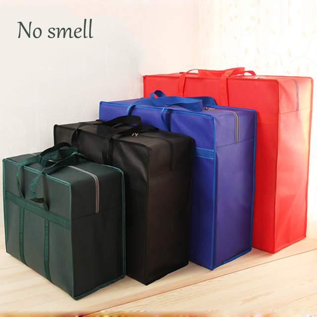 Extra large travel bag moving bag Oxford cloth luggage packing bag waterproof  30L 100L 130L thick non-woven bag