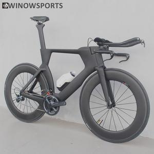 Winowsports 700C полный велосипед TT велосипедный Триатлон карбоновая рама с R8000 Ultegra и Di2 R8060 Группа Комплект