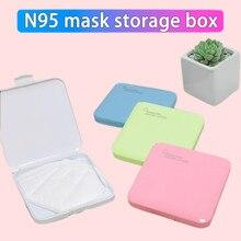 Portátil grande máscara antibacteriana capa descartável/n95 máscara organizador à prova de poeira caixa de medicina caja mascarillas guardar