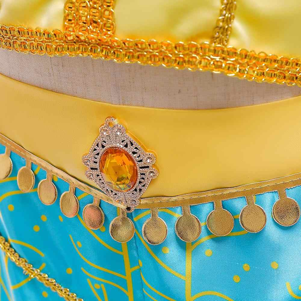 Elegante bebé niña princesa ropa de chico Jasmine Rapunzel Aurora Belle Ariel traje Cosplay vestido de fiesta para niña K30