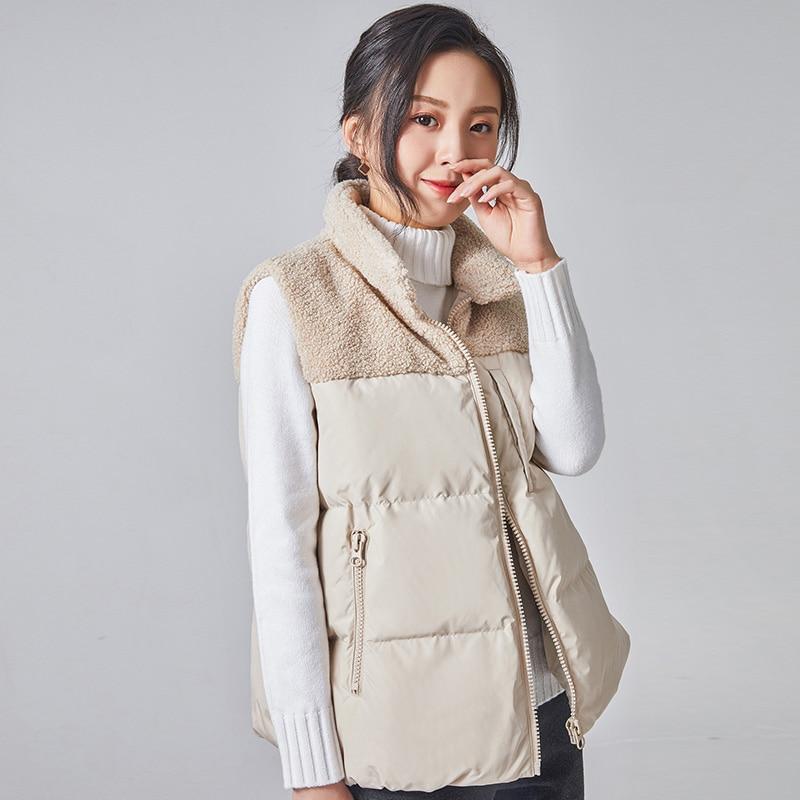 90% canard vers le bas gilet décontracté femme belle veste chaude vêtements d'extérieur J90132002