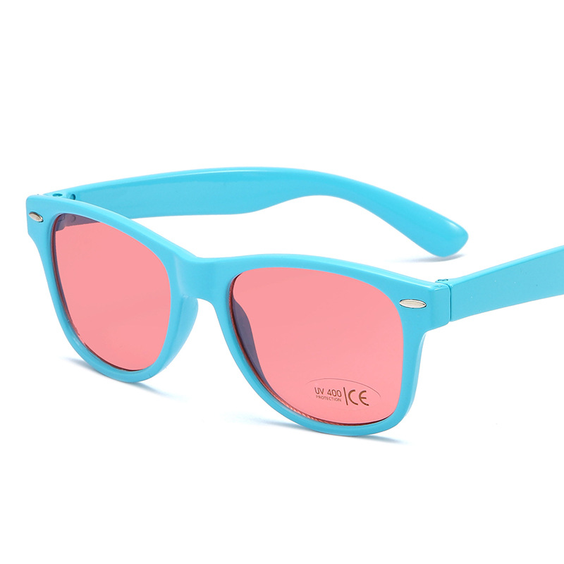2020 new children's fashion polarized sunglasses TR90 boys and girls sunglasses silicone safety sunglasses