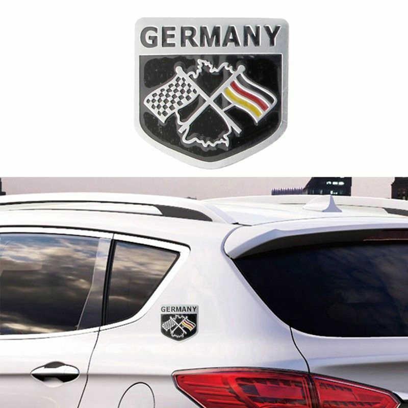 Deutsch Dán Xe Hơi Kim Loại 3D Decal Dạng Lưới Tản Nhiệt Ốp Lưng Cửa Sổ Trang Trí Cơ Thể Đức Quốc Kỳ Đức Huy Hiệu Quốc Huy