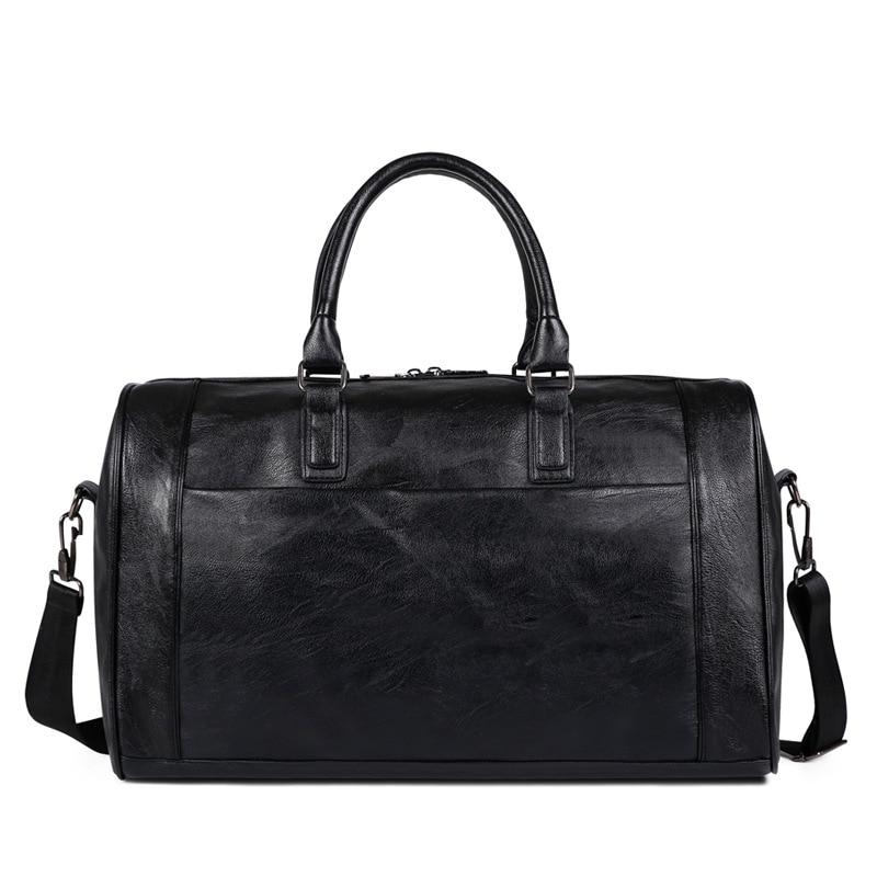 PU Leather Gym Bag -Large Training Sports Bag For Men Women Travel Yoga Handbag Fitness Multifunction Shoulder Crossbody XA722WD