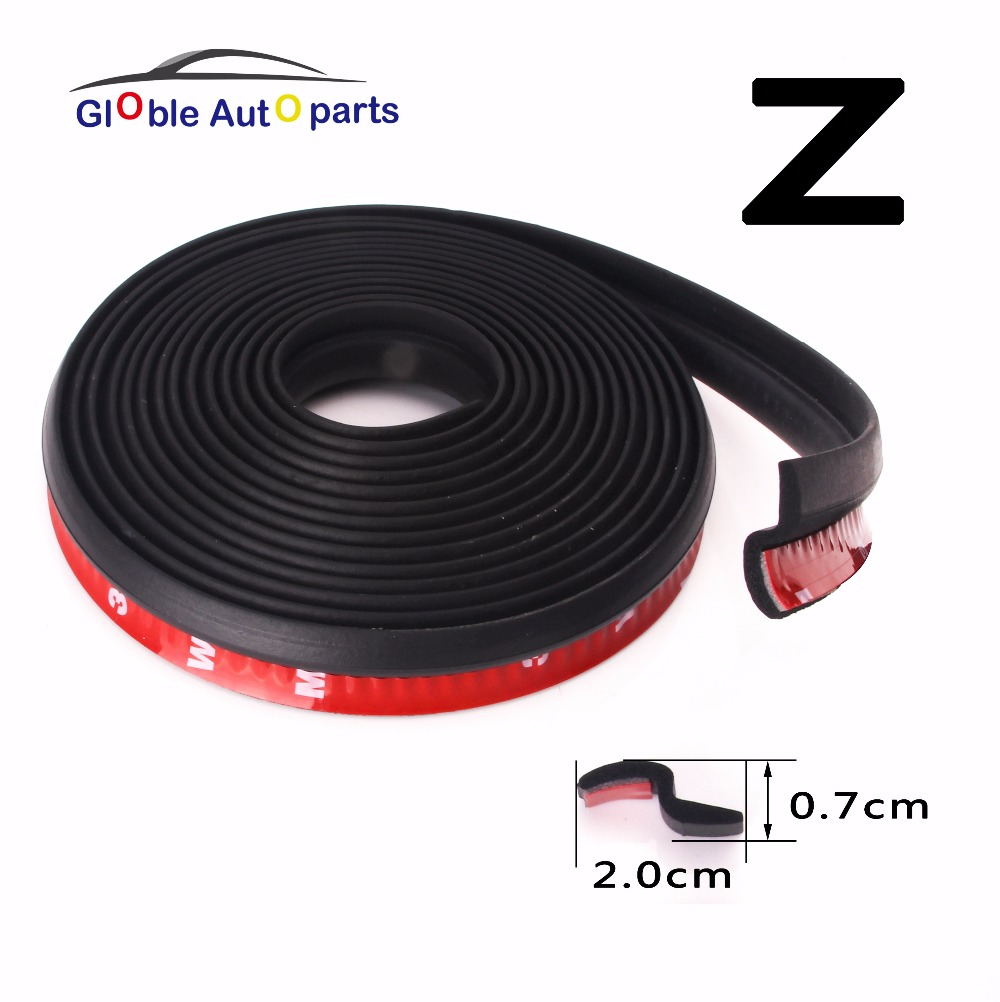 4 Meter Z Type Adhesive Car Door Seal Noise Sound Insulation Rubber Weather Strips Edge Trim Dust Waterproof Seal Universal