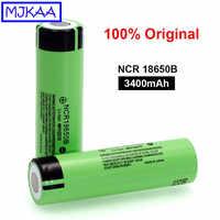 6 pces 100% original novo ncr18650b 3.7 v 3400 mah 18650 lítio li-ion bateria recarregável para baterias lanterna