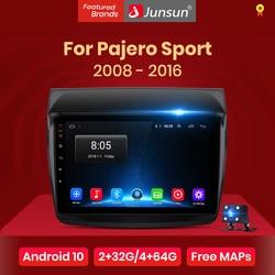 Junsun V1 pro 2G+128G Android 10 For Mitsubishi Pajero Sport 2 L200 Triton 2008 - 2016 Car Radio Multimedia Video Player GPS dvd
