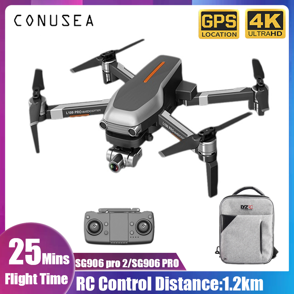 L109 Pro GPS Profissional Drone with HD 4K 2 Axis Gimbal Camera 5G WiFi FPV 1 2km Brushless Motor RC Quadcopter toy VS SG906 PRO