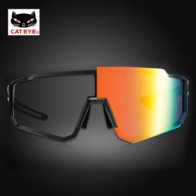 Cateye ciclismo óculos polarizados photochromic bicicleta esporte polaroid óculos de sol estrada mtb caminhadas com lente míope 2020novo 3