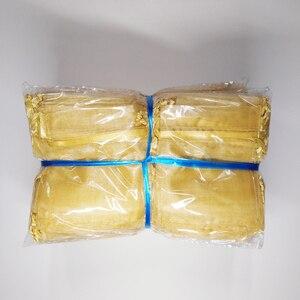 Image 5 - 500 adet İpli takı çantaları kılıfı 5x7 7x9 9x12 10x15cm organze çantalar düğün ambalaj hediye çantası parti dekorasyon takı çantası