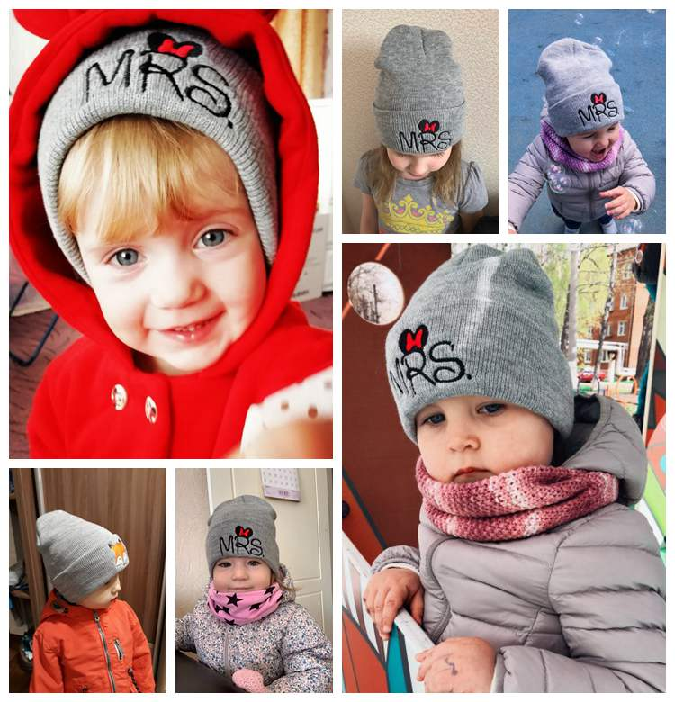 Cotton Hat Boys Girls Cute Cartoon Printed Embroidery Hats Baby Accessories Hot