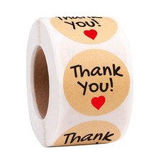 50pcs 1Inch DIY Hand Made Handmade With Love Label Wedding Stickers Adhesive Sticker Kraft Round Labels Wholesale price