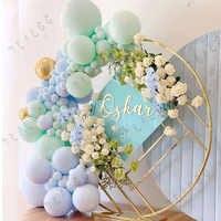Globos Pastel de macarrón azul menta, Kit de arco de guirnalda, lámina dorada, cumpleaños, boda, Baby Shower, decoración de Globos para fiestas, 100 Uds.