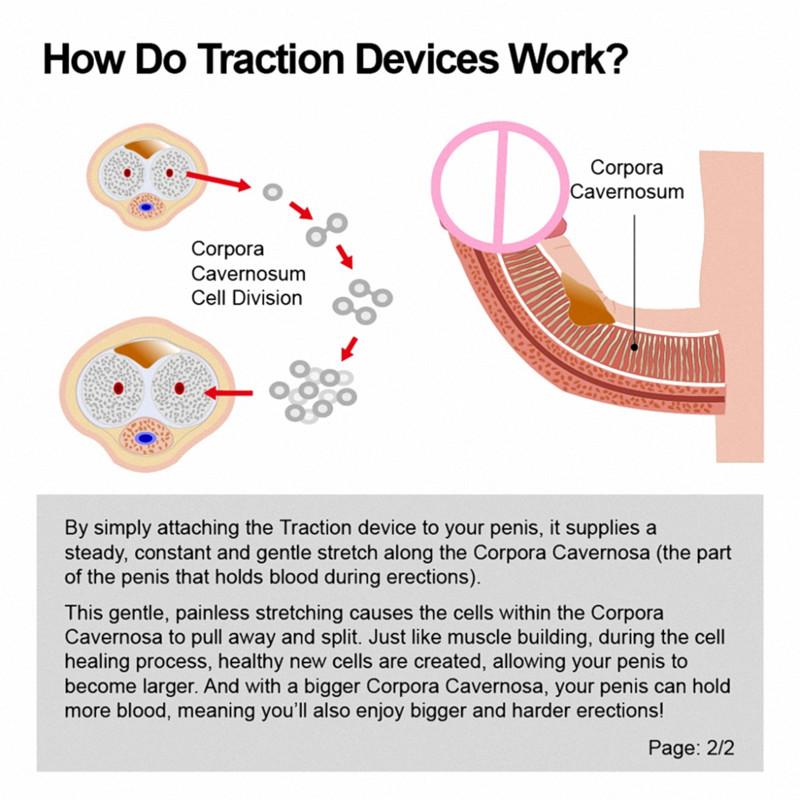 18+ Penis Enlargement Penile Traction Device Extender for Men 3G Effective NEW
