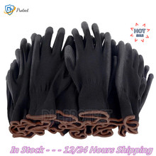 2-60 Pairs of Nylon PU Gloves Safety Work Gloves Repair Special Gloves Palm Coated Gloves Carpenter Repair Worker Supplies