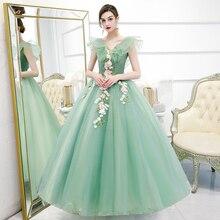 Ball-Gown Quinceanera-Dresses Floral-Print Gryffon Sweet New Classic V-Neck Robe-De-Bal