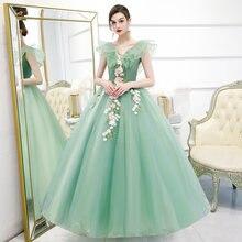 Классическое сексуальное бальное платье с v образным вырезом