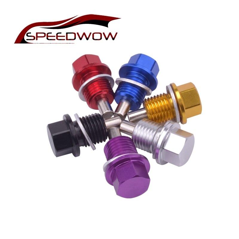 Speedwow M14 * 1.5 Magnetic Oil Olio di Scarico Della Coppa Dado Tappo a Vite Olio di Scarico Olio Magnetico Spina Dado Jdm per ford Honda Spedizione Gratuita