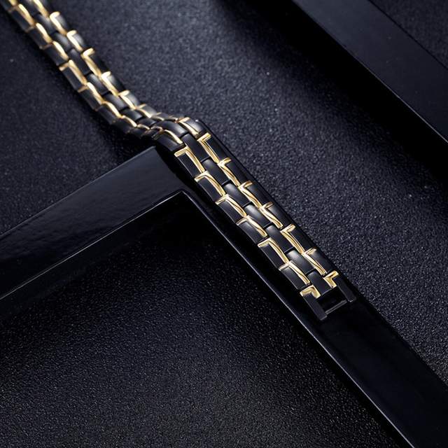 Healing Magnetic Bracelet Men/Woman Stainless Steel 4 Health Care Elements(Magnetic,FIR,Germanium,Hematite) Bracelets Hand Chain